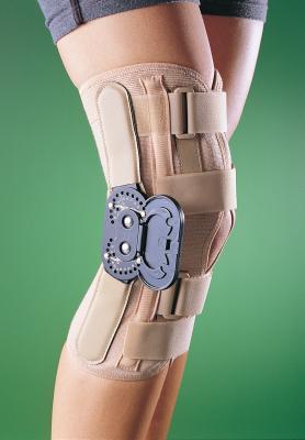 orteza kolanowa z podwójnym zegarem